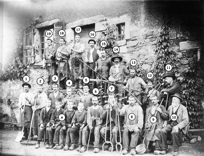 Les ouvriers de la forge ; 1905 (c) Fonds Combescot, série 47FI, AD24