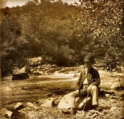 Cliquer pour agrandir : L'Auvézère en aval de la forge ; juillet 1913 © Fonds Combescot, série 47FI, AD24