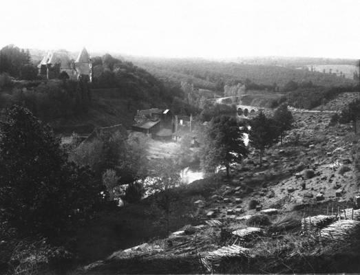 Cliquer pour agrandir : Coupe de taillis de châtaigner, essence dominante de la région ; 1890 (c) Fonds Combescot-Salats, série 48FI, AD24